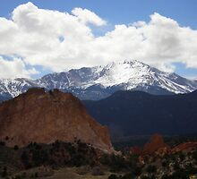 Pikes Peak from Garden of the gods by Bernie Garland
