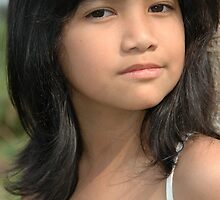 little girl with nice and cute face by bayu harsa