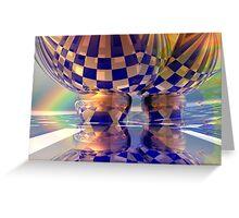 Hot air balloons under the rainbow Greeting Card