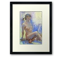 Nude Drawing5...moonstone Framed Print