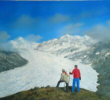 THE TRAVELERS 2 aka NISHA AND SIDDHARTH AT  ALETSCH GLACIER by PRIYADARSHI GAUTAM