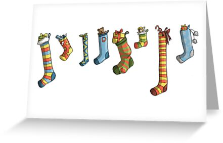 Christmas Card: Stocking Collection by Kirsty Mordaunt
