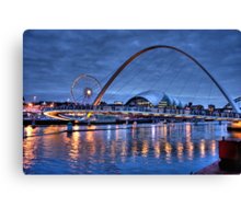 Newcastle Quayside at Night Canvas Print