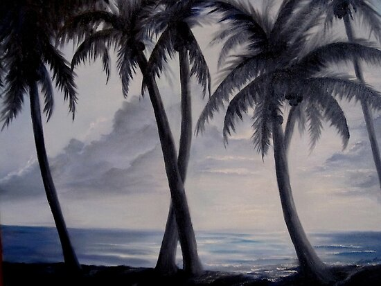 Moonlit Palms by Rosie Brown