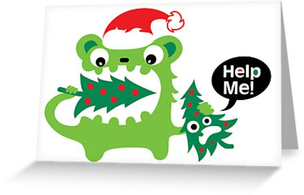 Help Me Christmas card by Andi Bird