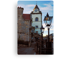 The Jubilee clock tower - Queensferry Canvas Print
