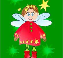 Cute angel christmas card by walstraasart
