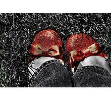 The slippers -- yes, the slippers! Photographic Print