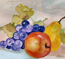 Purple GRAPE Still Life        Watercolor by AnnGordon