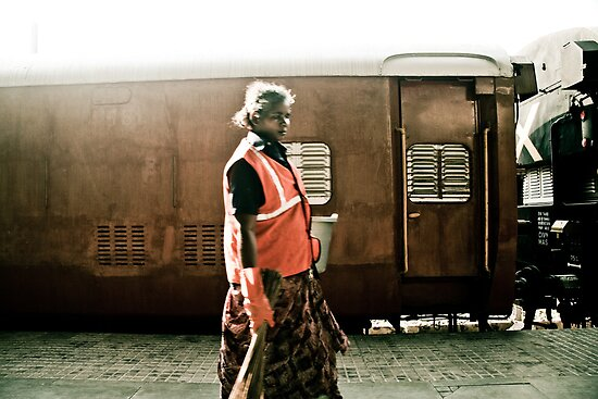 Women security guard, Mumbai, India by misskim
