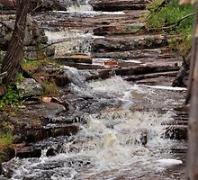 Water Flowing of Rocks From Aligator Gorge . by Rob Moffatt