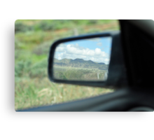 Side Mirror of Car Canvas Print