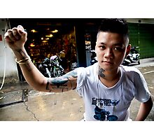 Vietnamese Motorbike Rider Photographic Print