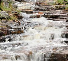 Water Flowing of Rocks From Aligator Gorge 3 by Rob Moffatt