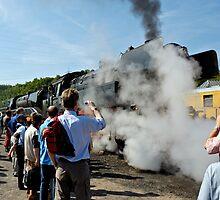 Steam Loco at Bochum Museum, Germany. by David A. L. Davies