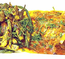 chicken fillet curry and vegetable combo by arfabita