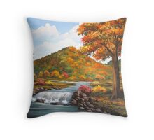 Color Show in the Hills Throw Pillow