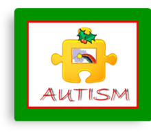 Autism Christmas Card Canvas Print
