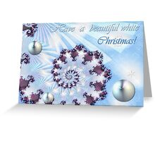 White Christmas Card Greeting Card