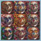 Day Of The Dead 3 (multi colors tee) by Devalyn Marshall