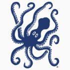 Octopus (blue) by Apotypomata