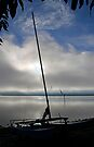 Here Comes the Sun - Hobie Cat by Debbie Pinard