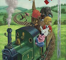animal train journey by martyee