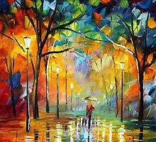 POSITIVE FLOW - Original Art Oil Painting By Leonid Afremov by Leonid  Afremov