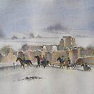 Winter Ride, Middleham Castle, N Yorkshire by artbyrachel