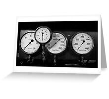Out of steam - gauges from the steamer Stord Greeting Card
