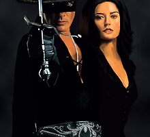the mask of zorro antonio banderas & catherine zeta by sky   princess