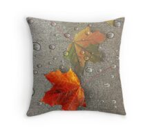 Autumn Leaf Dew Throw Pillow