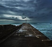 Porthleven Autumn Pier by hannahzoebooth