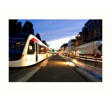 Edinburgh Trams Art Print