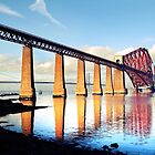 Autumn Day by the Forth Rail Bridge by Dan Lewry