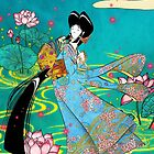 Japanese Woman - Lotus by Saing Louis