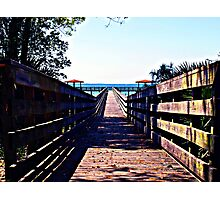 The Dock At Lake George Photographic Print