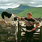 Scottish shepherd with dog, Isle of Skye, Scotland, UK, 1990s by David A. L. Davies