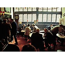 Busy lunch-time pub scene, Aylesbury, UK, 1980s Photographic Print