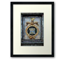 Historic brewery sign, England, UK Framed Print