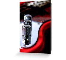 Red Guitar Greeting Card