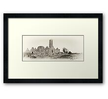 Quin Abbey, Panoramic, County Clare, Ireland Framed Print
