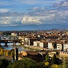 Bridges Over The Arno River by Lynne Morris