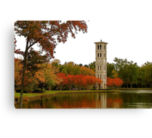 The Bell Tower on Swan Lake Canvas Print