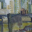 Princess Bridge, Melbourne Vic Australia by Margaret Morgan (Watkins)