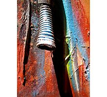 The water droplet and graffiti Photographic Print