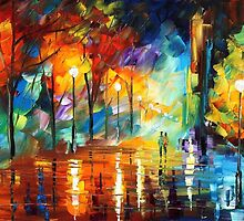 FLOW OF ENERGY - Original Oil Painting By Leonid Afremov by Leonid  Afremov