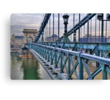 Széchenyi lánchíd (bridge) Canvas Print