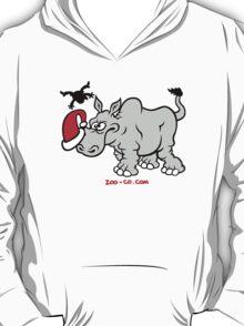 Santa Claus Meets a Rhino T-Shirt