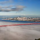 San Francisco Cityscape Golden Gate Bridge by upthebanner